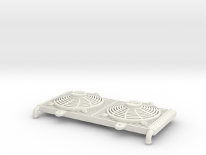 1:10 scale Radiator - Axial Wraith Twin Hammers in White Natural Versatile Plastic