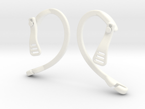 EnginEars- Active Earbud Adapters in White Processed Versatile Plastic