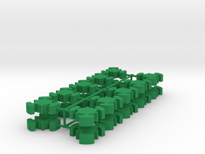 Game Piece, Imperial Republic Station, 20-set in Green Processed Versatile Plastic