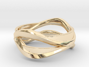 Full Dual Ring in 14K Yellow Gold: 5 / 49