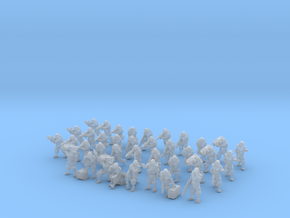 Zeus Pattern Light Infantry Platoon 15mm 38 pieces in Smooth Fine Detail Plastic