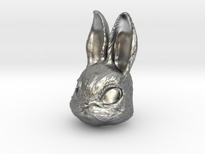 Rabbit Head in Natural Silver