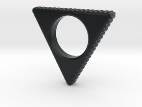 EDC Triangle Spinner V1 in Black Hi-Def Acrylate