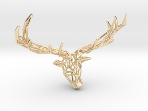 Untamed: The Deer Pendant in 14K Yellow Gold: Small