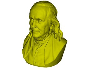1/9 scale Benjamin Franklin bust in Frosted Ultra Detail