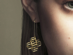 STRUCTURE Nº 2 EARRINGS in 14k Gold Plated