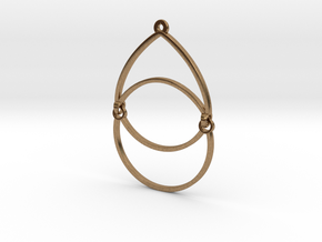 BlakOpal Open Teardrop Earring in Natural Brass (Interlocking Parts)