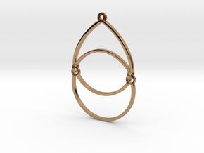 BlakOpal Open Teardrop Earring in Polished Brass (Interlocking Parts)