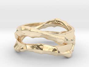 Full Dual Voronoi Ring in 14K Yellow Gold: 5 / 49