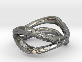 Dual Modern Ring in Polished Silver: 5 / 49