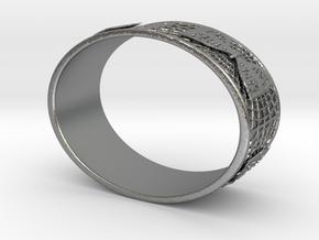 Butterfly Bracelet Oval in Natural Silver