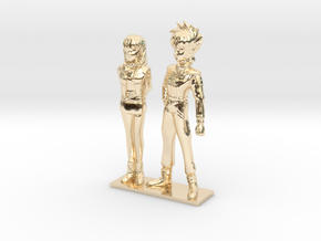 1/64 Racing Driver Couple in 14K Yellow Gold