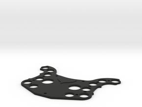 Corvette Race Wheel - Front Plate in Black Natural Versatile Plastic