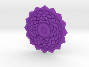 Crown Chakra Token in Purple Processed Versatile Plastic