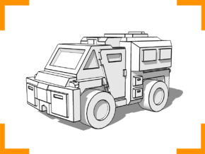 Westmaster Utility Truck 6mm in White Natural Versatile Plastic