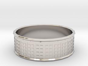 Tardis Ring, 18mm in Platinum