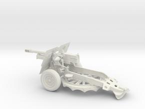 BA002 Howitzer Ordnance QF 25-pounder in White Natural Versatile Plastic