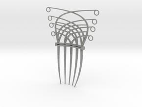 Art Deco/Art nouveau inspired hair comb in Metallic Plastic