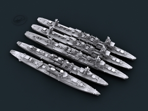 1/3000 IJN Tokyo Express CLs [Bundle] in Smooth Fine Detail Plastic