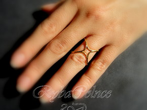 Ring The Hula Hoop II /size 6 US (16.5mm diameter) in Polished Bronze