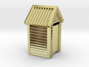 N Scale Wooden Outdoor Toilet Dunny 1:160 in 18k Gold