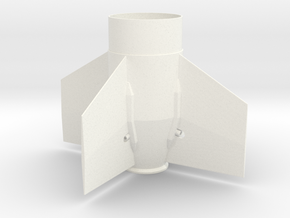 Arcas Fin Unit for BT-60 and 18mm motors in White Processed Versatile Plastic