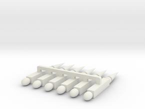 Talyllyn Signalbox Finials in White Natural Versatile Plastic
