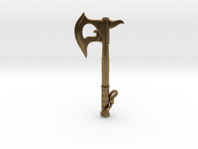Hand Axe Pendant in Natural Bronze