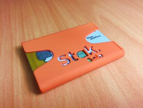 STAK Beta - Minimalist Wallet in Orange Strong & Flexible Polished
