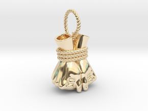 Bound Hands in 14k Gold Plated Brass