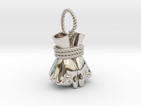 Bound Hands in Rhodium Plated Brass