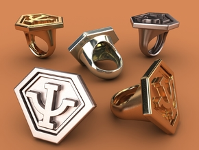 Babylon 5's Psy Corps Ring in Stainless Steel