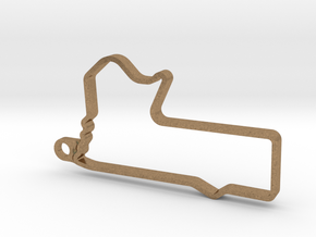 MOUNT PANORAMA CIRCUIT BATHURST Pendant in Natural Brass