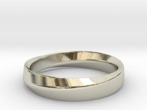 Mobius Wedding Size 5,5 in 14k White Gold