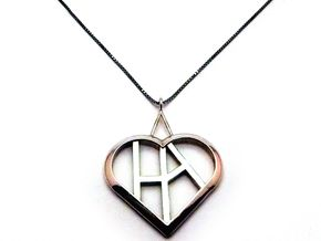 Heart of love pendant [customizable] in Premium Silver
