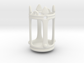 Lantern Crown Miniature in White Natural Versatile Plastic