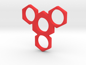 SHURIKEN SPINNER in Red Strong & Flexible Polished