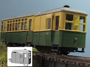 009 Sentinel Steam Railcar Tractor in White Processed Versatile Plastic