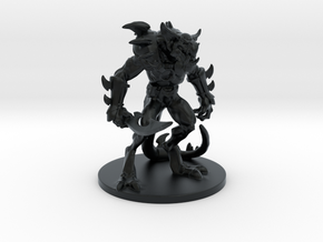 Lizard Warrior (table top edition) in Black Hi-Def Acrylate