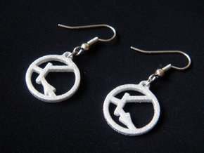 Transistor Symbol Earrings for Electrical Engineer in White Strong & Flexible Polished