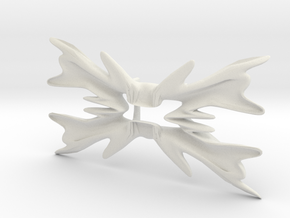 Bowtie flower in White Natural Versatile Plastic