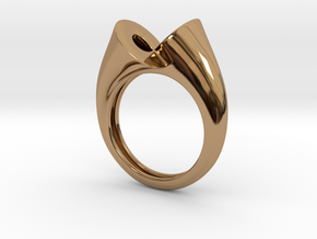 Ring triedrico in Polished Brass: 10 / 61.5