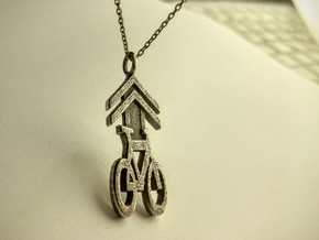 Sharrow Pendant in Polished Bronzed Silver Steel