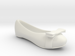 Yellow Flat Shoe / Pumps in White Natural Versatile Plastic