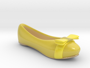 Yellow Flat Shoe / Pumps in Coated Full Color Sandstone