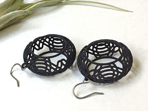 Celtic pattern earrings 1 in Black Natural Versatile Plastic
