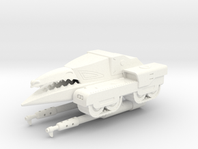 MOTU Machines Series - Destructo Tank V1 in White Strong & Flexible Polished