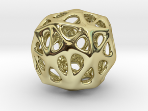 Organic Sphere in 18k Gold Plated Brass