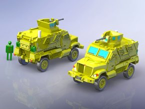 International MaxxPro MRAP Vehicle 1/160 N-Scale in Frosted Ultra Detail