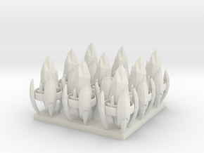 1/700 Protoss Pylons X9 in White Natural Versatile Plastic
